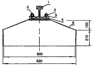 Крепление рельса к подкрановой балке