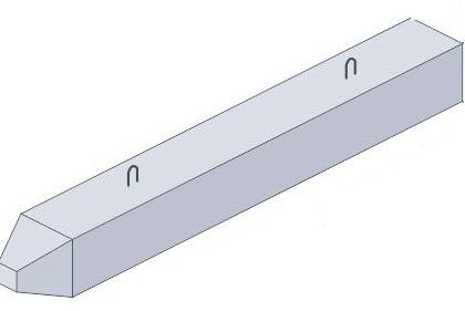 Сваи железобетонные для стальных опор